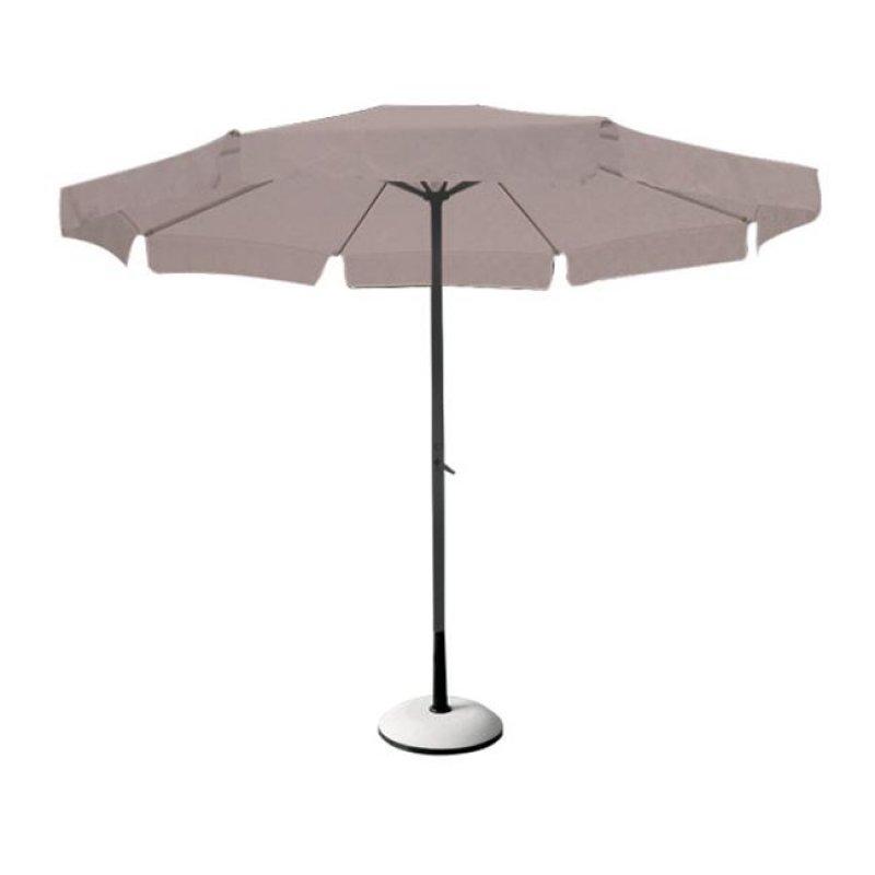 Ομπρέλα αλουμινίου-υφασμάτινη σε ανθρακί-μπεζ χρώμα Φ3