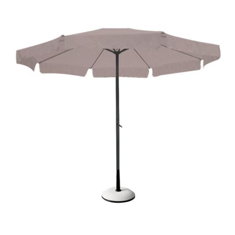 Ομπρέλα αλουμινίου-υφασμάτινη σε ανθρακί-μπεζ χρώμα 3x3