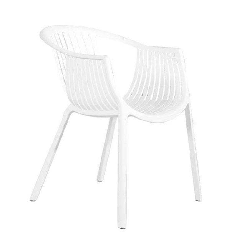 """Πολυθρόνα """"COLOMBO"""" από πολυπροπυλένιο σε λευκό χρώμα 59x56x75"""