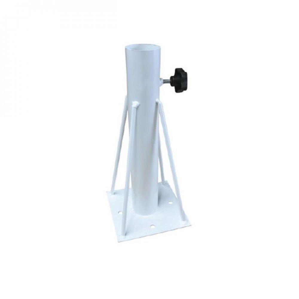 Βάση ομπρέλας μεταλλική εδάφους σε λευκό χρώμα 15x15