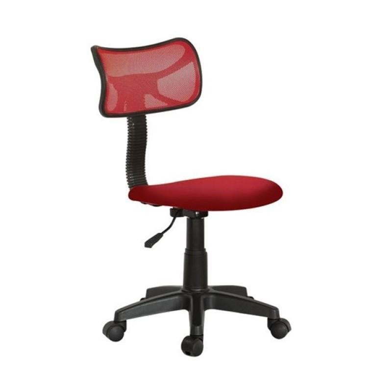 Πολυθρόνα εργασίας γραφείου από ύφασμα mesh σε κόκκινο χρώμα 46x52x77/89