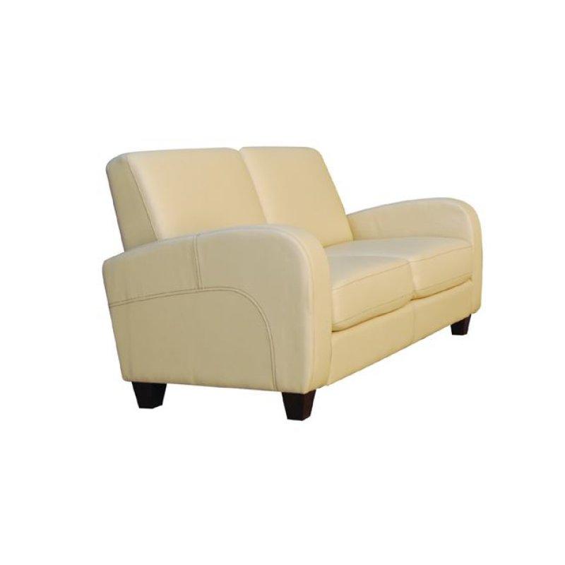 """Καναπές """"AVERO"""" διθέσιος από pu σε μπεζ χρώμα 147x80x83"""