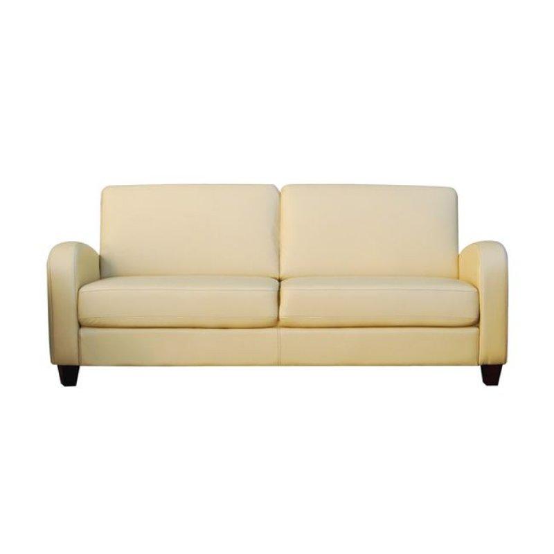 """Καναπές """"AVERO"""" τριθέσιος από pu σε μπεζ χρώμα 186x80x83"""