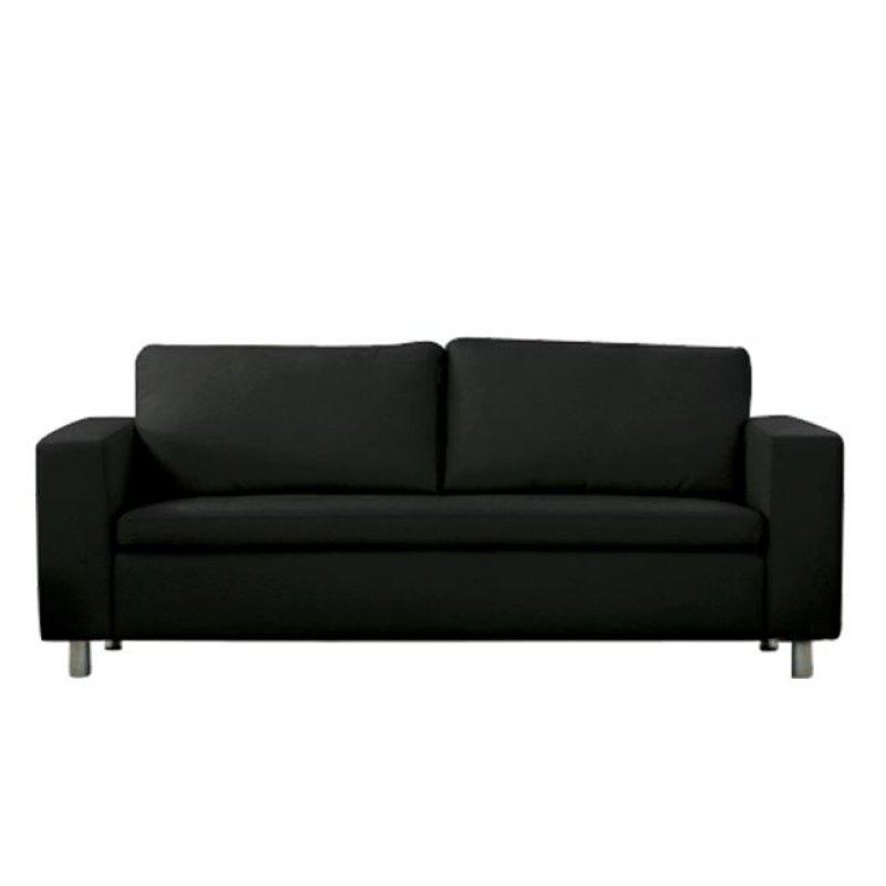 """Καναπές """"ALAMO"""" τριθέσιος από τεχνόδερμα σε μαύρο χρώμα 199x85x82"""