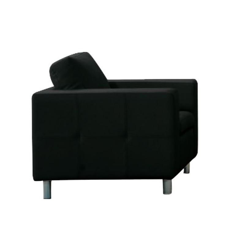 """Πολυθρόνα """"ALAMO"""" από pu σε μαύρο χρώμα 97x85x82"""