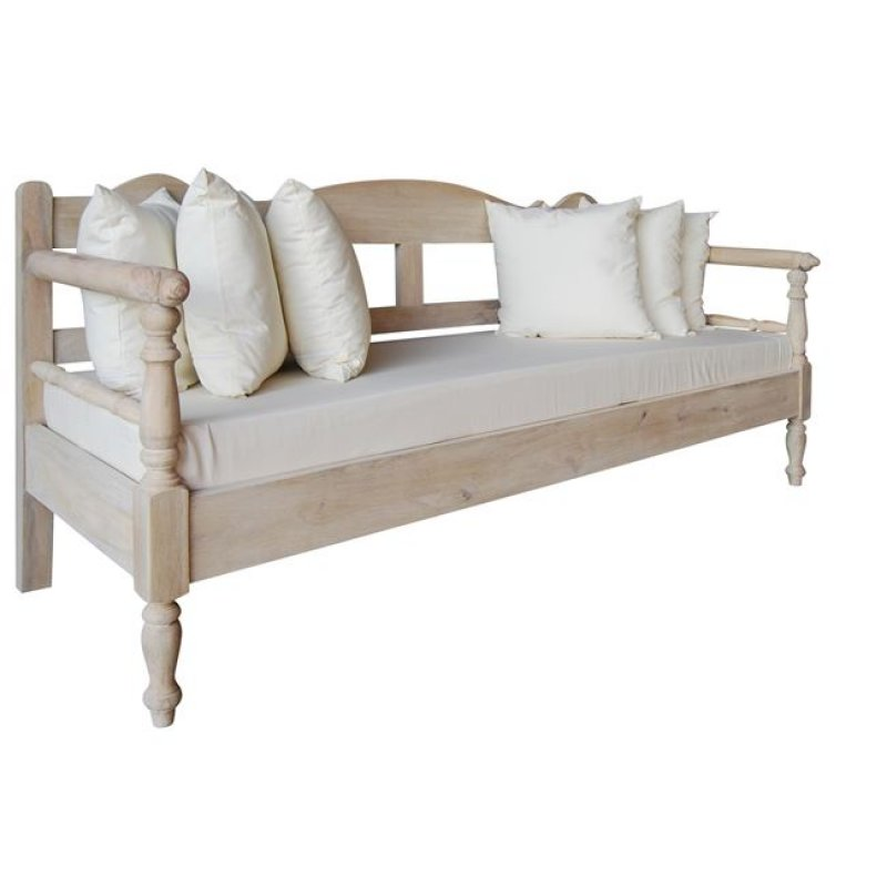 """Καναπές """"MAISON ΣΚΥΡΟΣ"""" τριθέσιος σε λευκό χρώμα 200x73x94"""
