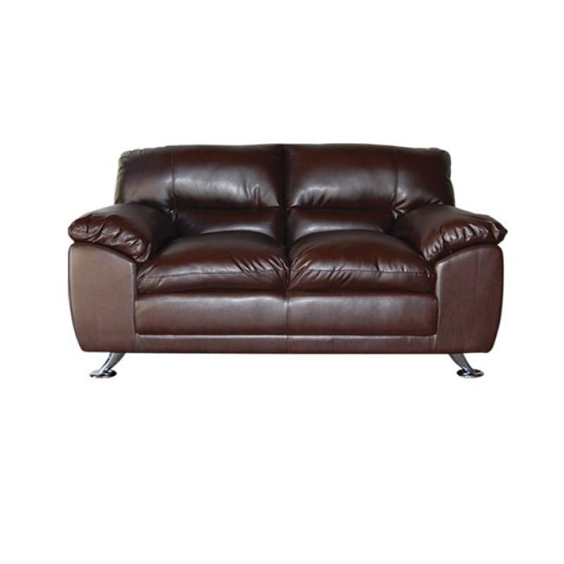 """Καναπές """"NEMO"""" διθέσιος bonded leather-pu σε καφέ χρώμα 148x91x92"""
