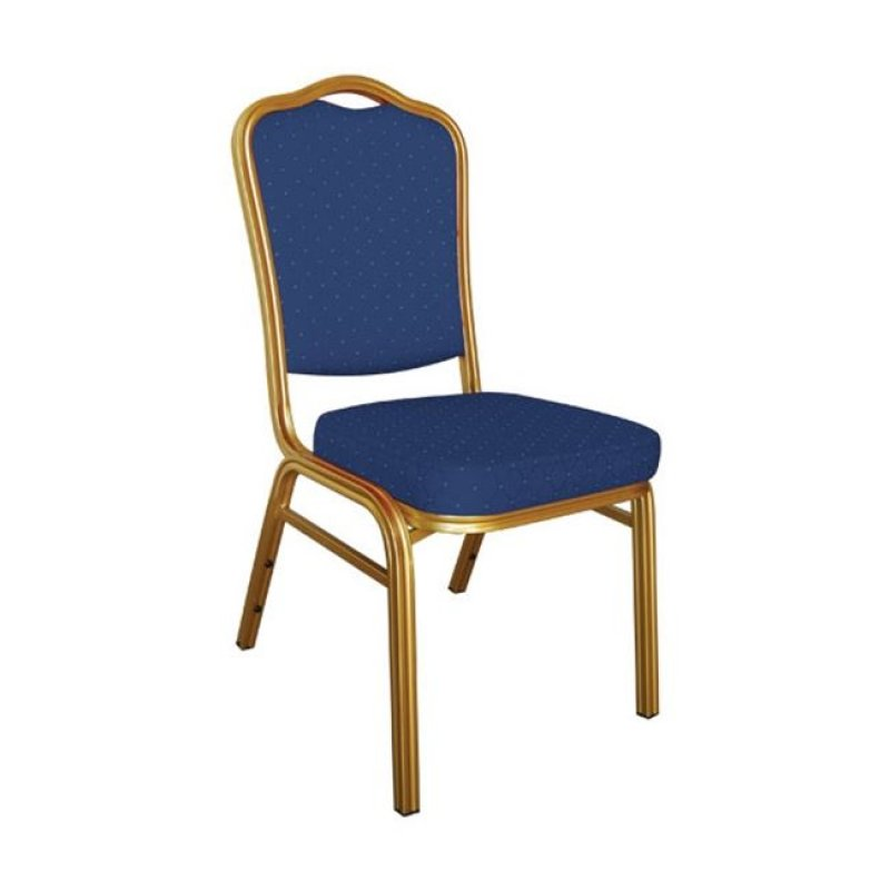 """Καρέκλα """"HILTON"""" μεταλλική-υφασμάτινη σε μπλε χρώμα 45x62x94"""