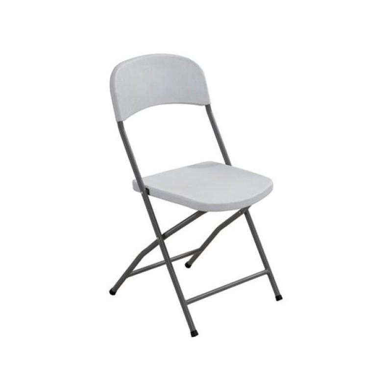 """Καρέκλα """"STREAMY"""" πολυπροπυλενίου χρώματος λευκό 45x48x83"""