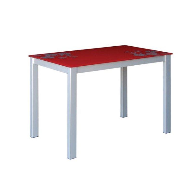 """Τραπέζι """"GORDON"""" μεταλλικό σε χρώμα γκρί με γυάλινη επιφάνεια 110x70x75"""