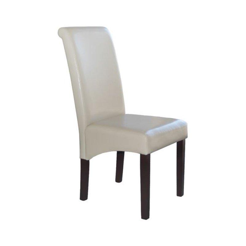 """Καρέκλα """"MALEVA-H"""" τεχνόδερμα σε ivory χρώμα 46x61x100"""