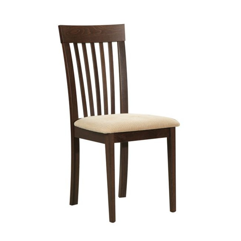 """Καρέκλα """"CORINA"""" ξύλινη-τεχνόδερμα σε καρυδί-εκρού χρώμα 46x54x95"""