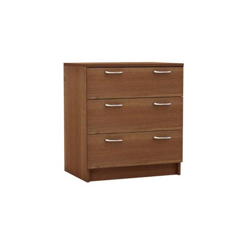 """Συρταριέρα """"DECON"""" με 3 συρτάρια σε κερασί χρώμα 60x40x68"""