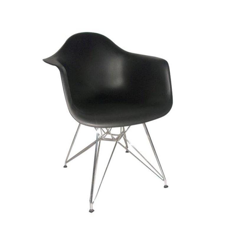 """Πολυθρόνα """"ALEA"""" πολυπροπυλενίου σε μαύρο χρώμα 63x60x81"""