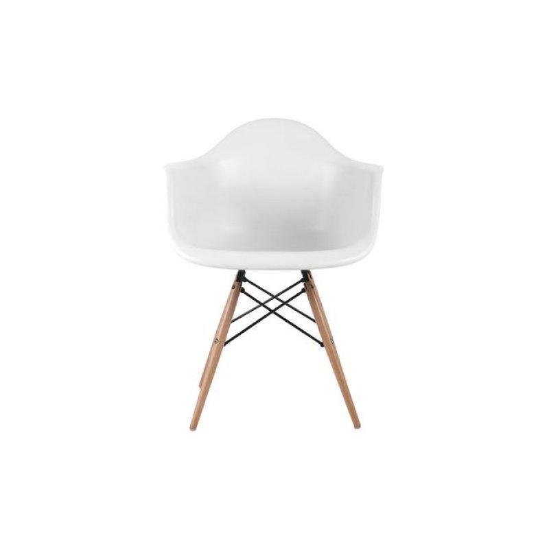 """Πολυθρόνα """"ART Wood"""" πολυπροπυλενίου χρώματος λευκό 63x60x81"""