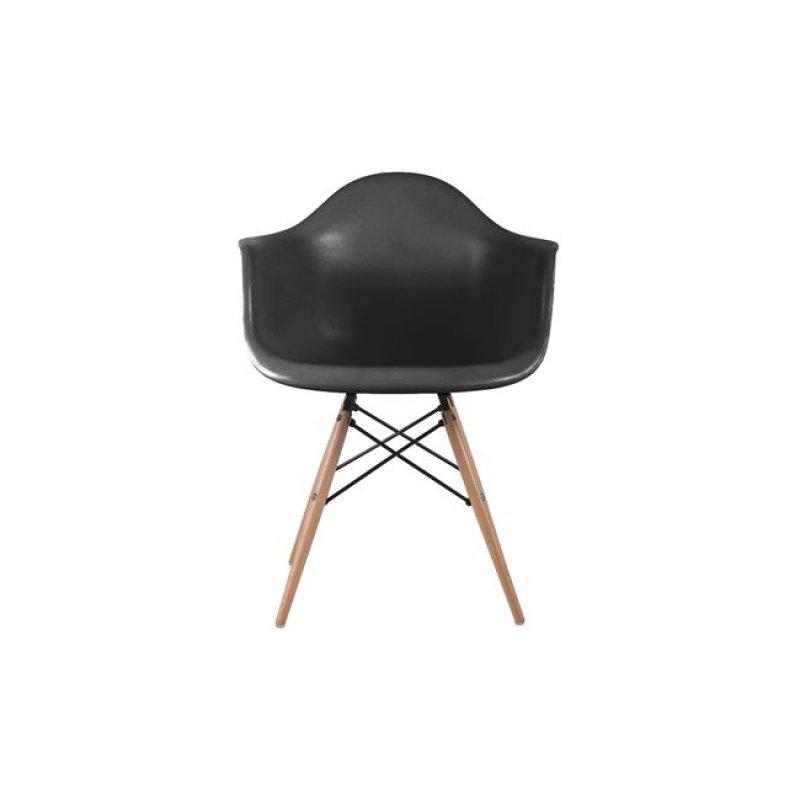 """Πολυθρόνα """"ART Wood"""" πολυπροπυλενίου χρώματος μαύρο 63x60x81"""