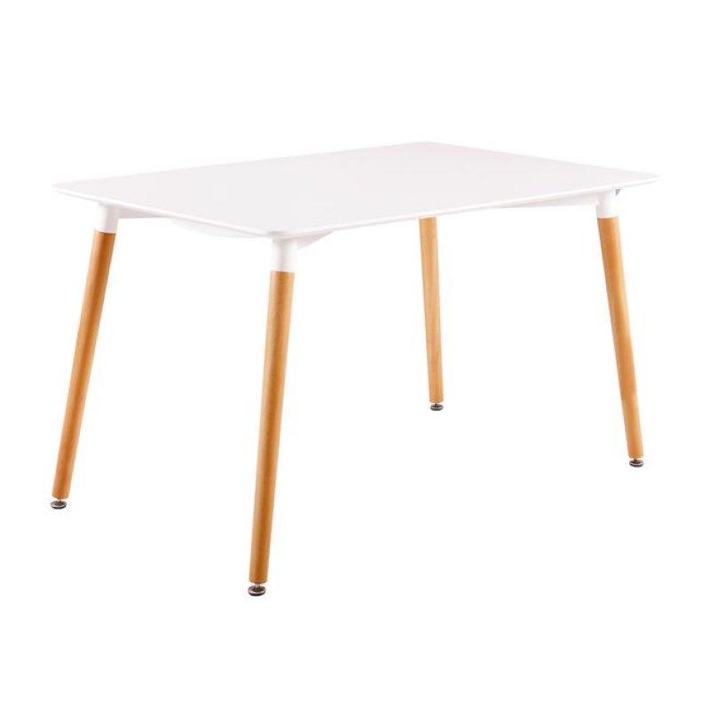 """Τραπέζι """"ART"""" σε χρώμα λευκό 120x80x73"""