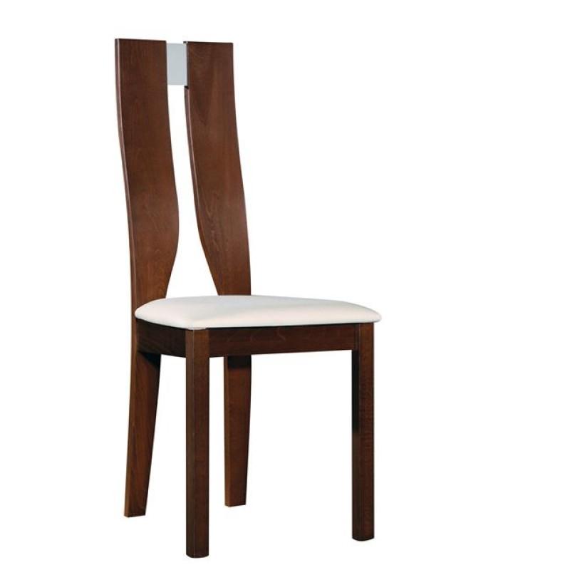 """Καρέκλα """"NOEL"""" ξύλινη σε χρώμα καρυδί-μπεζ 45x52x103"""
