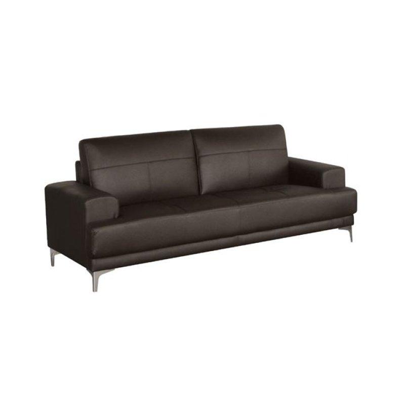 """Καναπές """"FORUM"""" τριθέσιος δέρμα σε σκούρο καφέ χρώμα 201x88x84"""