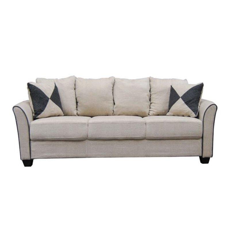 """Καναπές """"ASHLEY"""" τριθέσιος υφασμάτινος σε μπεζ χρώμα 198x80x88"""