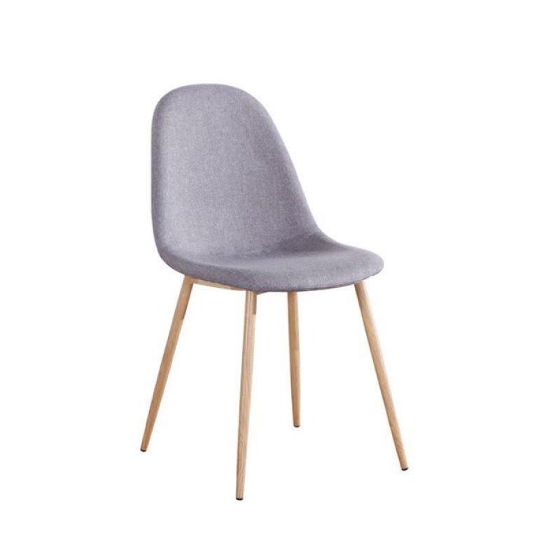 """Καρέκλα """"CELINA """" μεταλλική-υφασμάτινη σε χρώμα γκρι 45x54x85"""