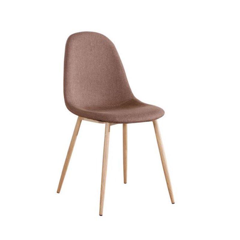 """Καρέκλα """"CELINA """" μεταλλική-υφασμάτινη σε χρώμα καφέ 45x54x85"""