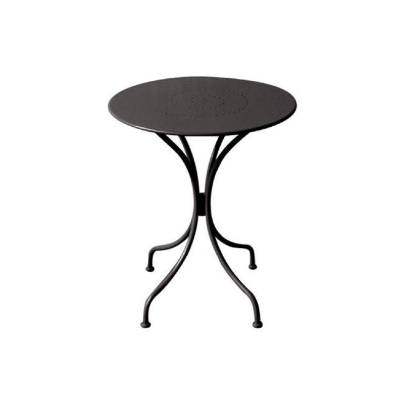 """Τραπέζι """"PARK"""" μεταλλικό σε χρώμα μαύρο 60x70"""