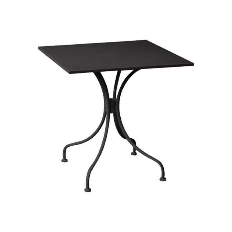 """Τραπέζι """"PARK"""" μεταλλικό σε χρώμα μαύρο 70x70x71"""