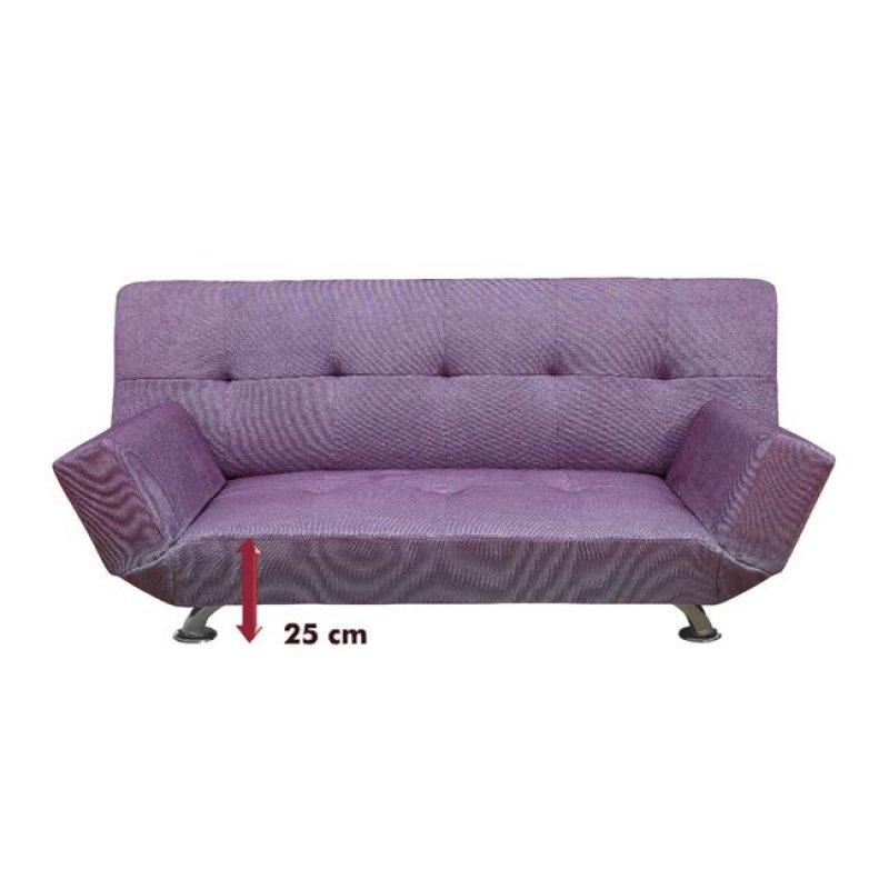 """Καναπές-κρεβάτι """"MITO-II"""" διθέσιος από ύφασμα σε μωβ χρώμα 176x99x76"""
