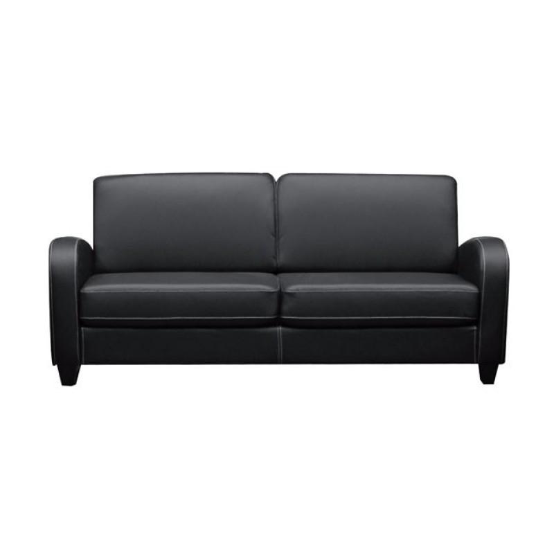 """Καναπές """"AVERO"""" τριθέσιος από pu σε μαύρο χρώμα 186x80x83"""