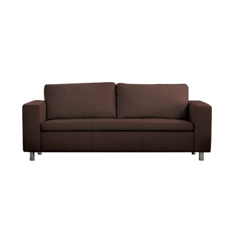 """Καναπές """"ALAMO"""" τριθέσιος από pu σε σκούρο καφέ χρώμα 199x85x82"""