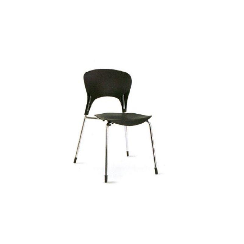 """Καρέκλα """"ISIS"""" χρωμίου-πολυπροπυλενίου σε χρώμα μαύρο 50x52x79"""
