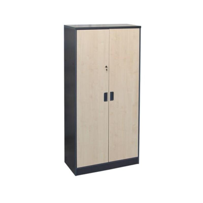 Ντουλάπα σε σκούρο γκρι χρώμα με οξυά 80x40x172