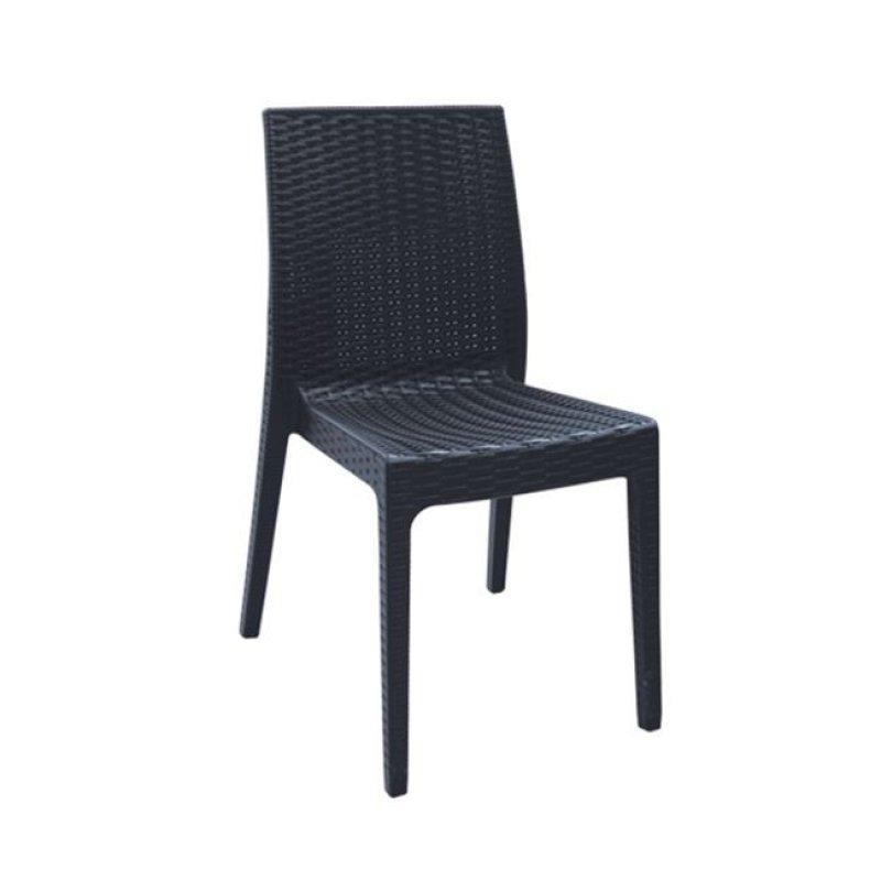 """Καρέκλα """"DAFNE"""" πολυπροπυλένιο σε ανθρακί χρώμα 46x55x85"""