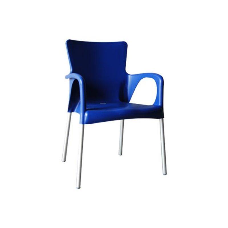 """Πολυθρόνα """"LARA"""" από πολυπροπυλένιο σε μπλέ χρώμα 55x52x85"""