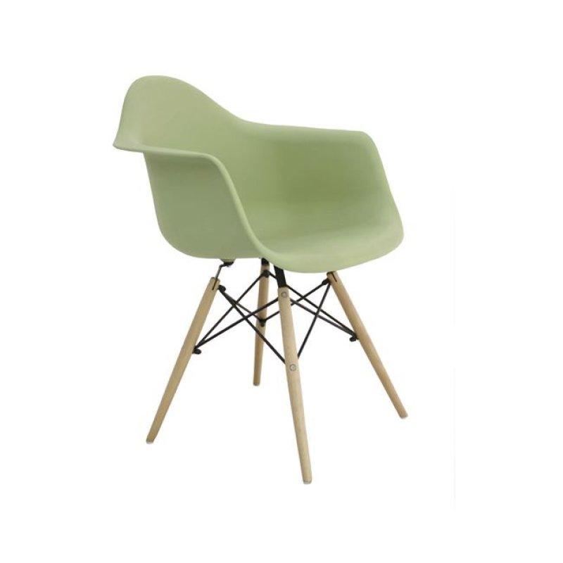 """Πολυθρόνα """"ART Wood"""" πολυπροπυλενίου χρώματος πράσινο 63x60x81"""