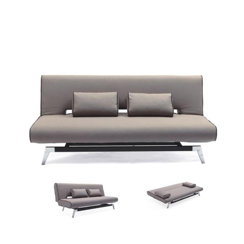 """Καναπές-κρεβάτι """"FELIX"""" τριθέσιος από ύφασμα γκρι χρώμα 191x91x79"""