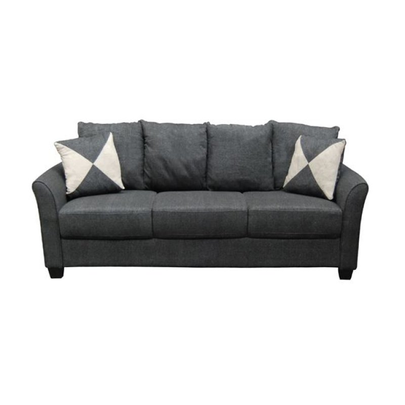 """Καναπές """"ASHLEY"""" τριθέσιος υφασμάτινος σε ανθρακί χρώμα 198x80x88"""