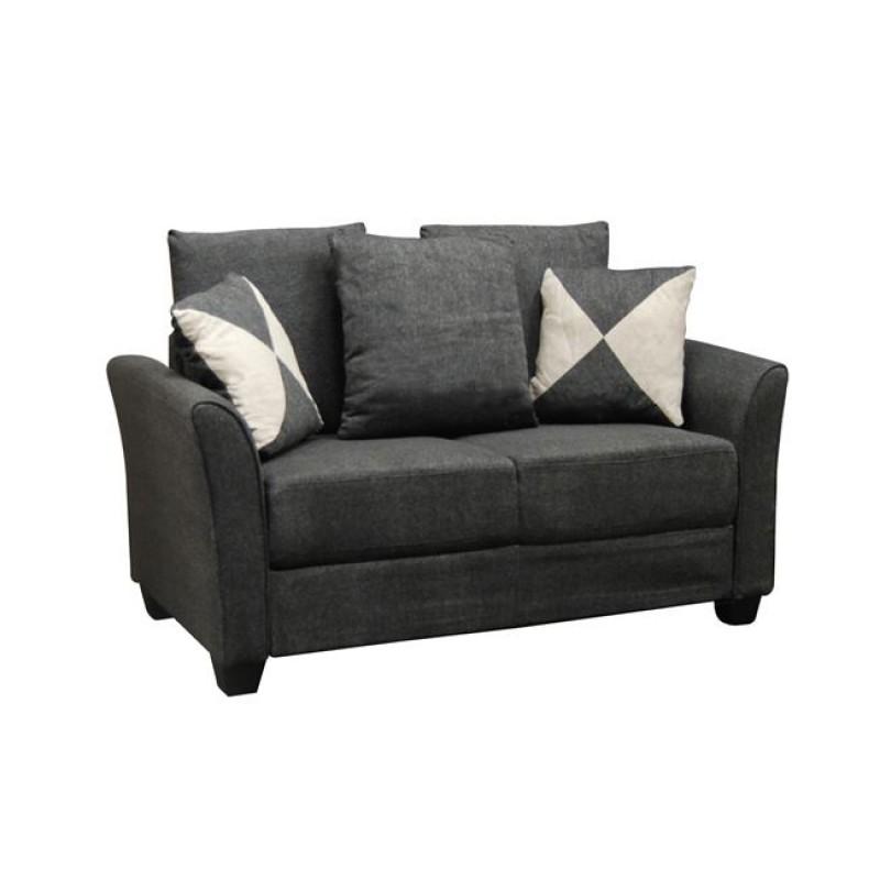 """Καναπές """"ASHLEY"""" διθέσιος υφασμάτινος σε ανθρακί χρώμα 142x80x88"""