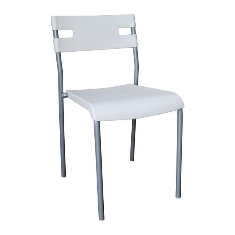 """Καρέκλα """"SWIFT"""" πολυπροπυλενίου σε λευκό χρώμα 42x48x76"""