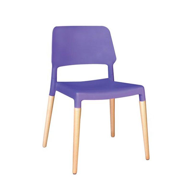 """Καρέκλα """"URBAN"""" πολυπροπυλενίου χρώματος μωβ 52x54x79"""