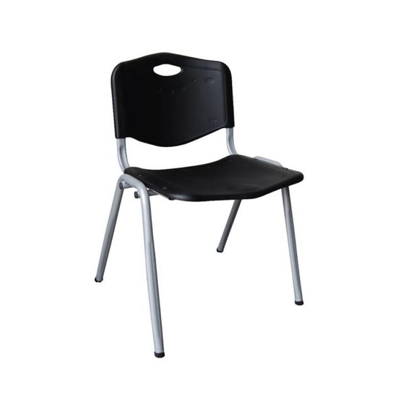 """Καρέκλα επισκέπτη """"STUDY"""" σε μαύρο χρώμα 55x54x77"""