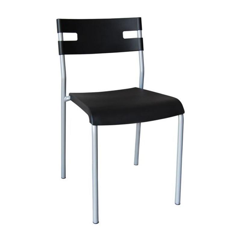 """Καρέκλα """"SWIFT"""" πολυπροπυλενίου σε χρώμα μαύρο 42x48x76"""