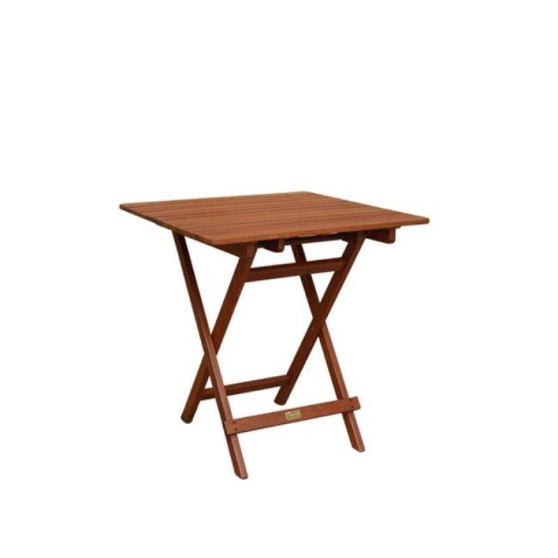 """Τραπέζι """"EASY-K"""" πτυσσόμενο σε καρυδί χρώμα 70x70x72"""