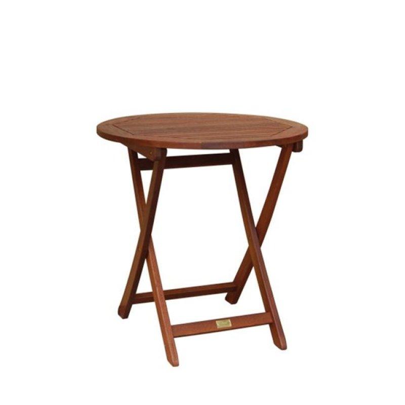"""Τραπέζι """"EASY-K"""" οβάλ πτυσσόμενο σε χρώμα καρυδί 70x72"""