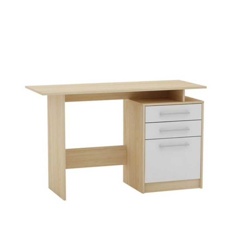 """Γραφείο """"DECON"""" σε απόχρωση σημύδας-λευκό 120x48x76"""