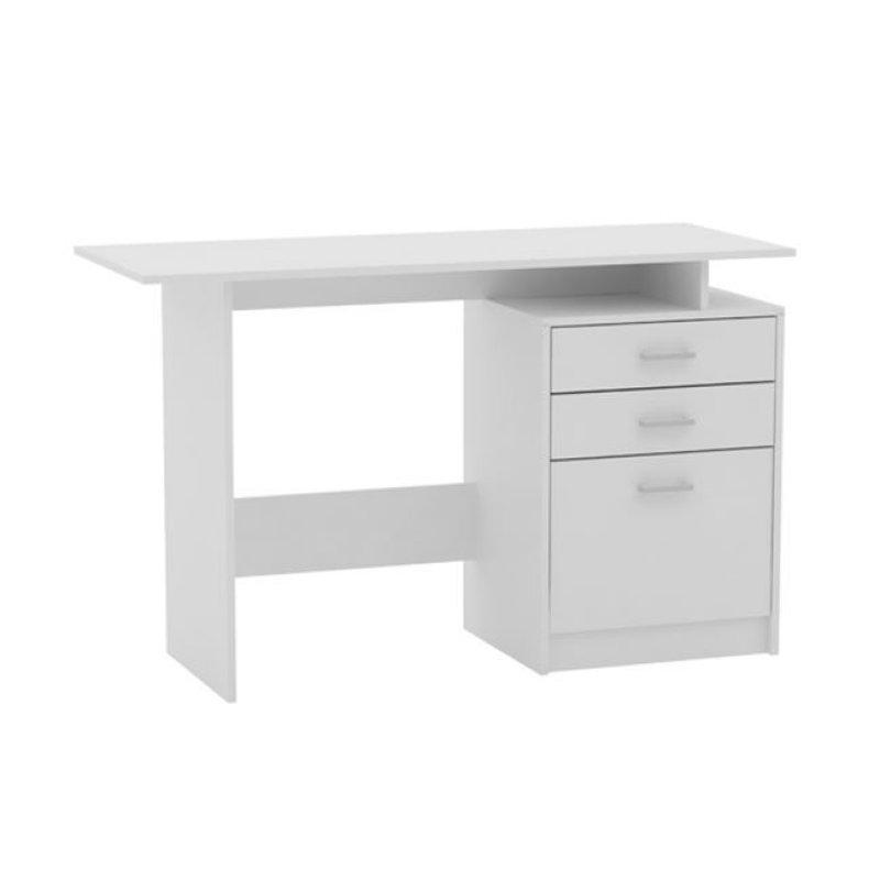 """Γραφείο """"DECON"""" σε χρώμα λευκό 120x48x76"""