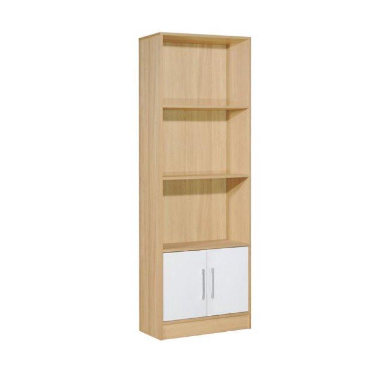 """Βιβλιοθήκη """"DECON"""" σε απόχρωση σημύδας-λευκό 60x29x180"""