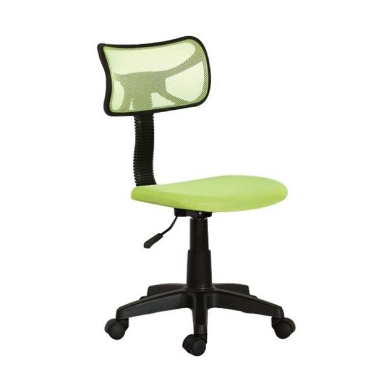Πολυθρόνα εργασίας γραφείου από ύφασμα mesh σε λαχανί χρώμα 46x52x77/89