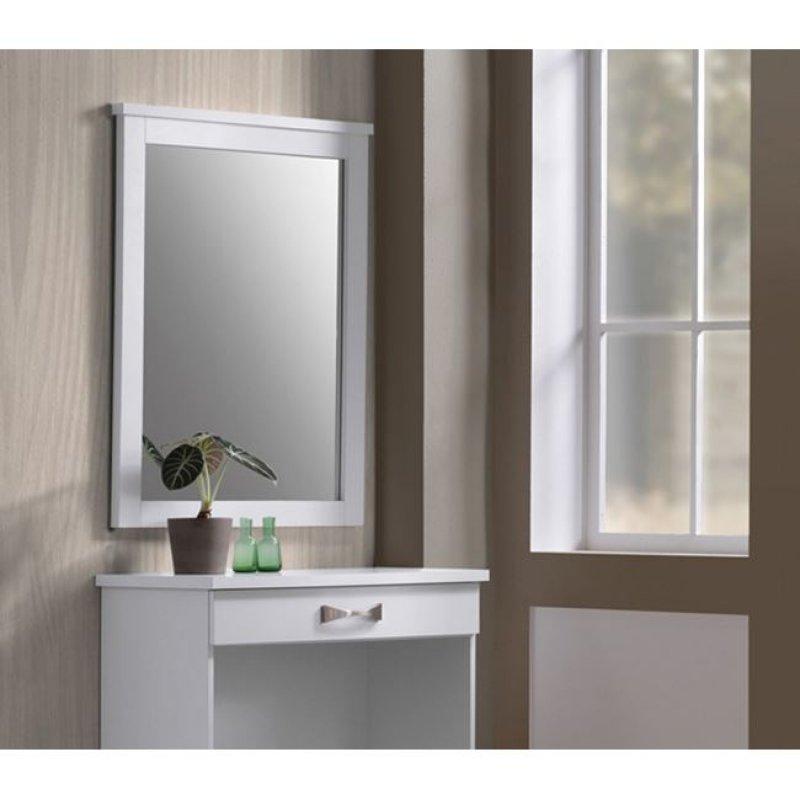 """Καθρέπτης """"LIFE"""" σε χρώμα λευκό 72x93x4,4"""